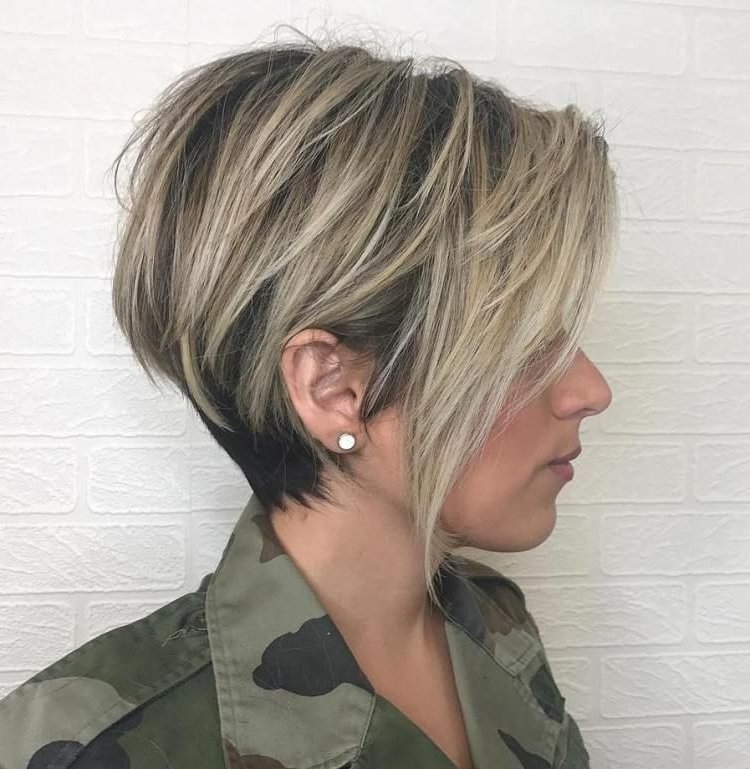 60 Classy Short Haircuts And Hairstyles For Thick Hair | Blonde With Regard To Black And Ash Blonde Pixie Bob Hairstyles (Gallery 12 of 25)