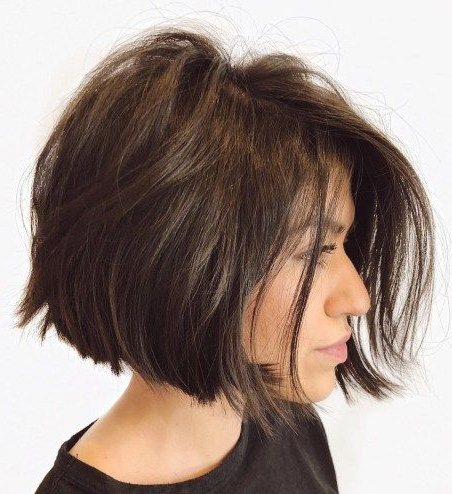 60 Classy Short Haircuts And Hairstyles For Thick Hair | Casual In Disheveled Brunette Choppy Bob Hairstyles (Gallery 5 of 25)