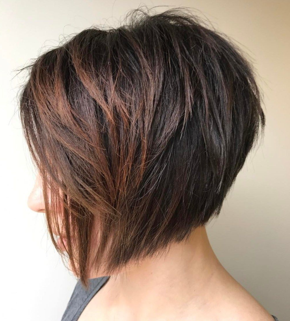 60 Classy Short Haircuts And Hairstyles For Thick Hair   Hair And For Jaw Length Inverted Curly Brunette Bob Hairstyles (Gallery 24 of 25)