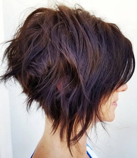 60 Classy Short Haircuts And Hairstyles For Thick Hair | Hair Inside Messy Shaggy Inverted Bob Hairstyles With Subtle Highlights (Gallery 1 of 25)