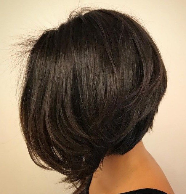 60 Classy Short Haircuts And Hairstyles For Thick Hair | Hair Pertaining To Inverted Bob Hairstyles With Swoopy Layers (Gallery 10 of 25)