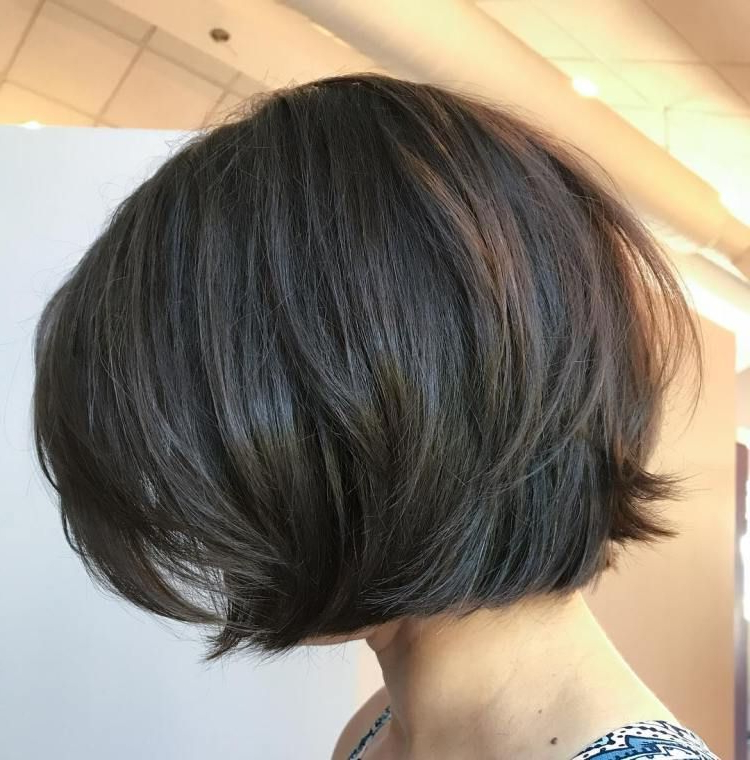 60 Classy Short Haircuts And Hairstyles For Thick Hair | Haircuts For Straight Cut Bob Hairstyles With Layers And Subtle Highlights (Gallery 1 of 25)