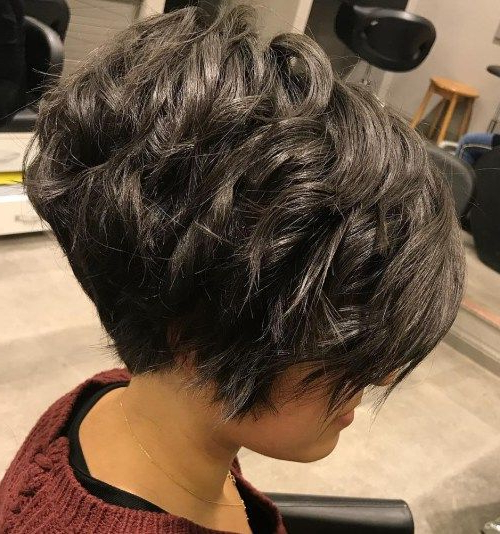 60 Classy Short Haircuts And Hairstyles For Thick Hair | Hairstyles Inside Razored Pixie Bob Haircuts With Irregular Layers (View 7 of 25)