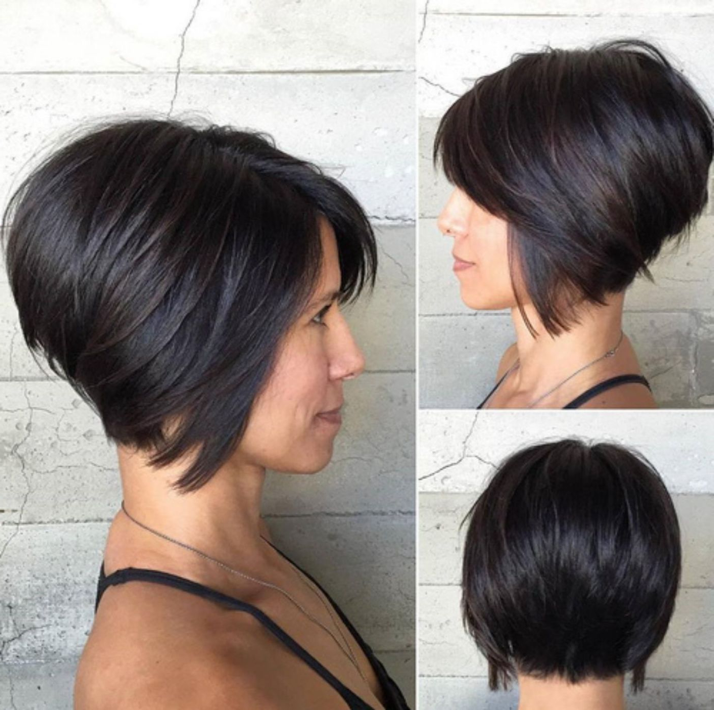 60 Classy Short Haircuts And Hairstyles For Thick Hair In 2018 For Inverted Bob Short Haircuts (Gallery 14 of 25)