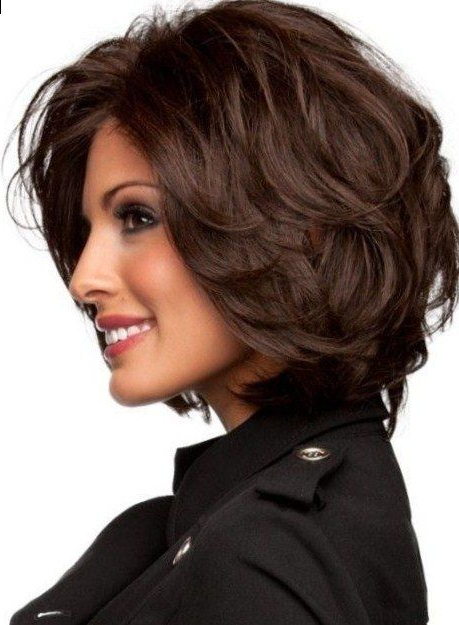 60 Classy Short Haircuts And Hairstyles For Thick Hair In 2018 Regarding Classic Layered Bob Hairstyles For Thick Hair (View 9 of 25)