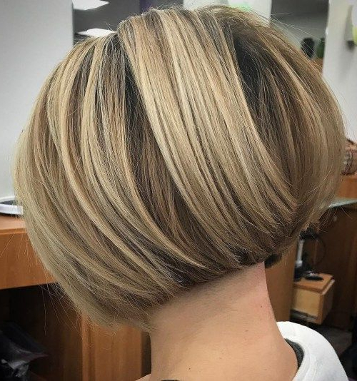 60 Classy Short Haircuts And Hairstyles For Thick Hair   Inverted Inside Voluminous Nape Length Inverted Bob Hairstyles (Gallery 10 of 25)