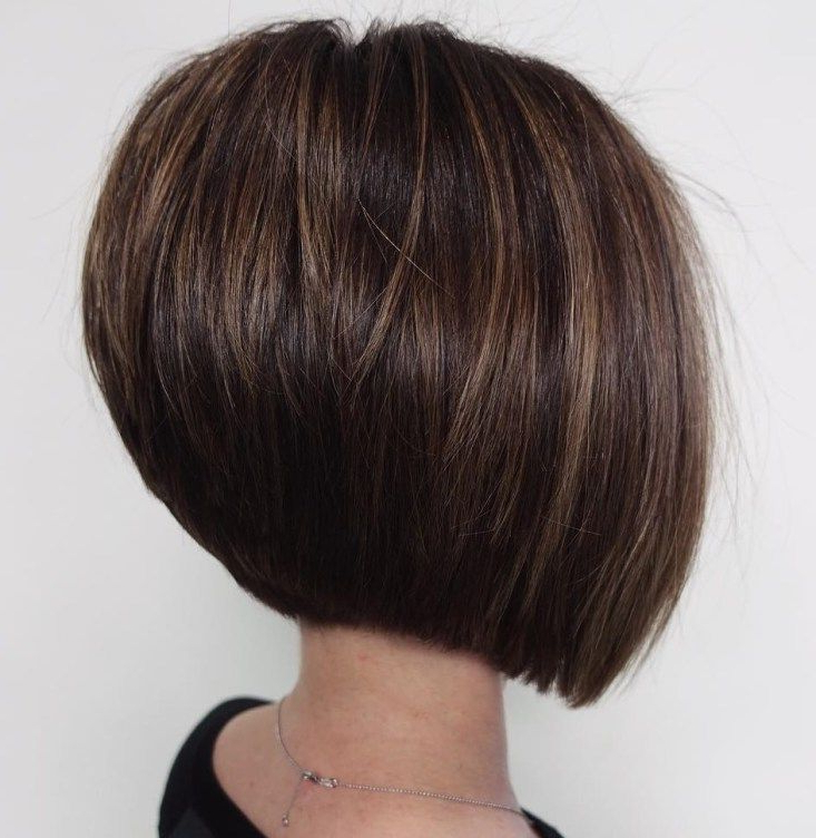 60 Classy Short Haircuts And Hairstyles For Thick Hair | Pinterest Intended For Sleek Rounded Inverted Bob Hairstyles (Gallery 1 of 25)