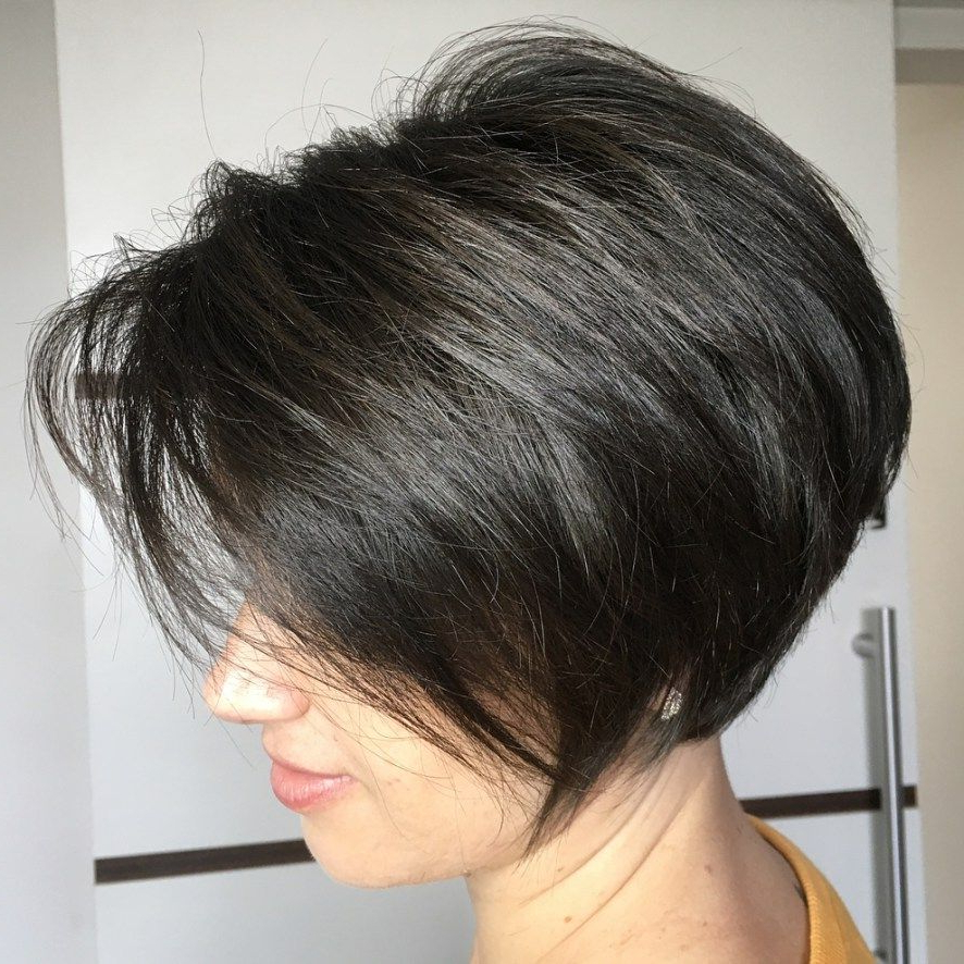 60 Classy Short Haircuts And Hairstyles For Thick Hair | Pinterest With Short Stacked Bob Blowout Hairstyles (Gallery 2 of 25)