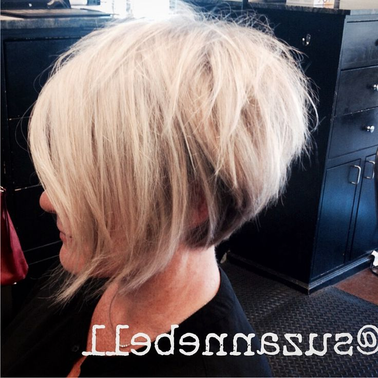 60 Cool Short Hairstyles & New Short Hair Trends! Women Haircuts 2017 In Frizzy Razored White Blonde Bob Haircuts (Gallery 21 of 25)