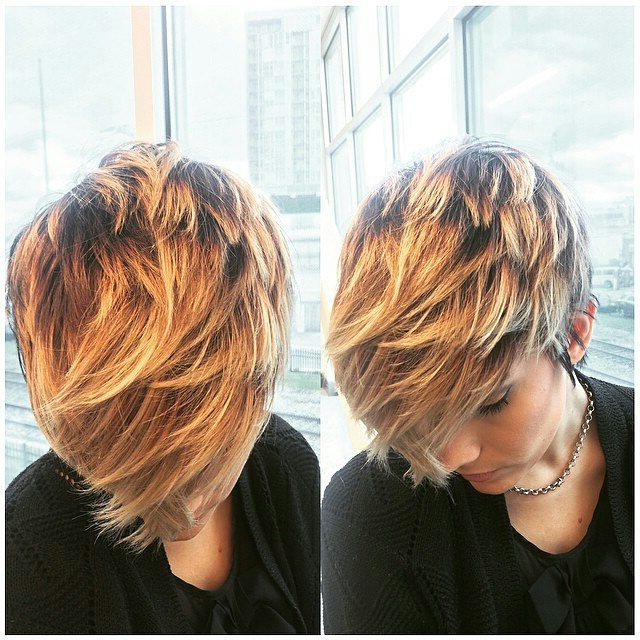 60 Cool Short Hairstyles & New Short Hair Trends! Women Haircuts 2017 With Pixie Bob Hairstyles With Golden Blonde Feathers (Gallery 24 of 25)