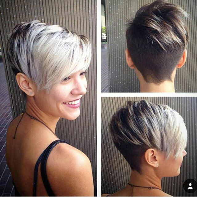 60 Cool Short Hairstyles & New Short Hair Trends! Women Haircuts 2017 Within Two Tone Stacked Pixie Bob Haircuts (View 23 of 25)