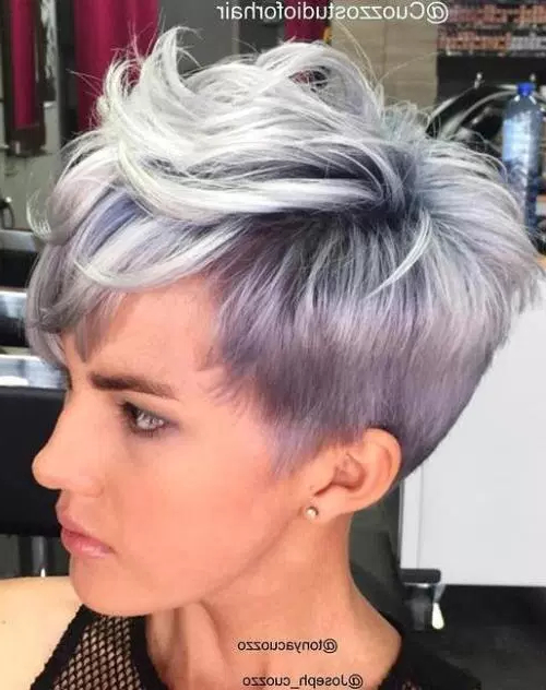 60 Cute Short Hairstyles For Thick Hair – Page 19 Of 60 – Fallbrook247 Inside Sexy Pastel Pixie Hairstyles (View 3 of 25)