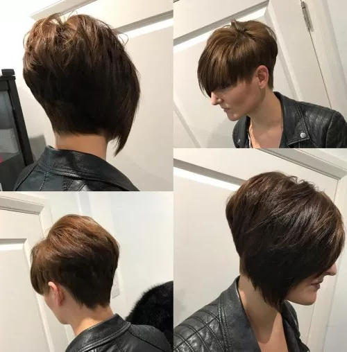 60 Cute Short Hairstyles For Thick Hair – Page 40 Of 60 – Fallbrook247 Throughout Straight Triple Threat Ponytail Hairstyles (Gallery 11 of 25)