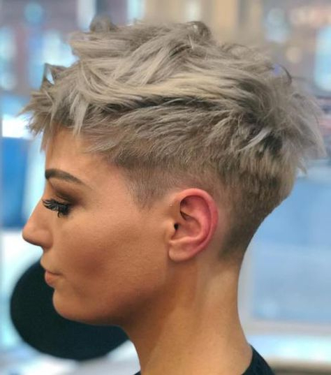 60 Cute Short Pixie Haircuts – Femininity And Practicality | Short Inside Ash Blonde Undercut Pixie Haircuts (Gallery 10 of 25)