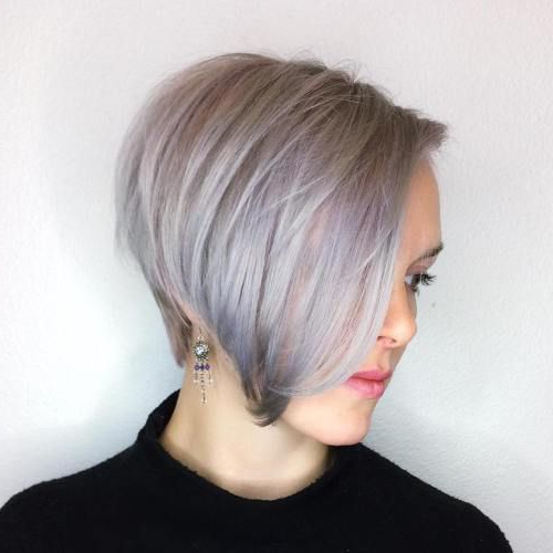 60 Gorgeous Long Pixie Hairstyles | Hairstyles | Pinterest | Hair Regarding Side Parted Asymmetrical Gray Bob Hairstyles (View 13 of 25)