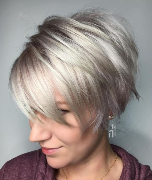60 Gorgeous Long Pixie Hairstyles In 2018 | Hairstyles | Pinterest In Bronde Balayage Pixie Haircuts With V Cut Nape (View 14 of 25)