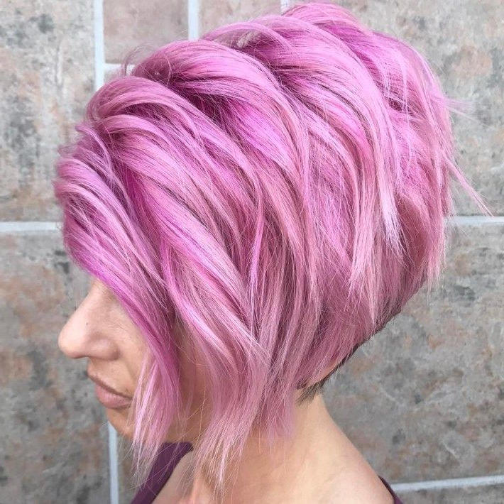 60 Gorgeous Long Pixie Hairstyles | Pastel Pink, Bobs And Long Pixie With Regard To Pastel Pink Textured Pixie Hairstyles (Gallery 15 of 25)