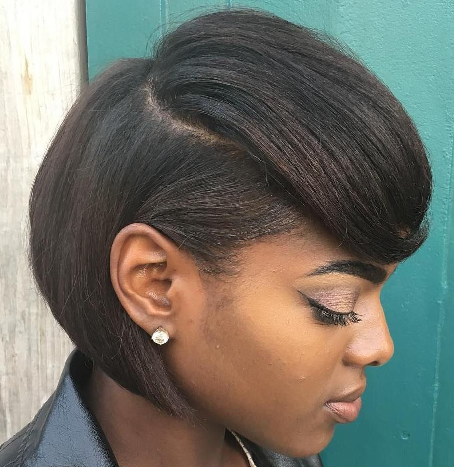 60 Great Short Hairstyles For Black Women In 2018 | Black Hair For Short Black Bob Haircuts (Gallery 16 of 25)