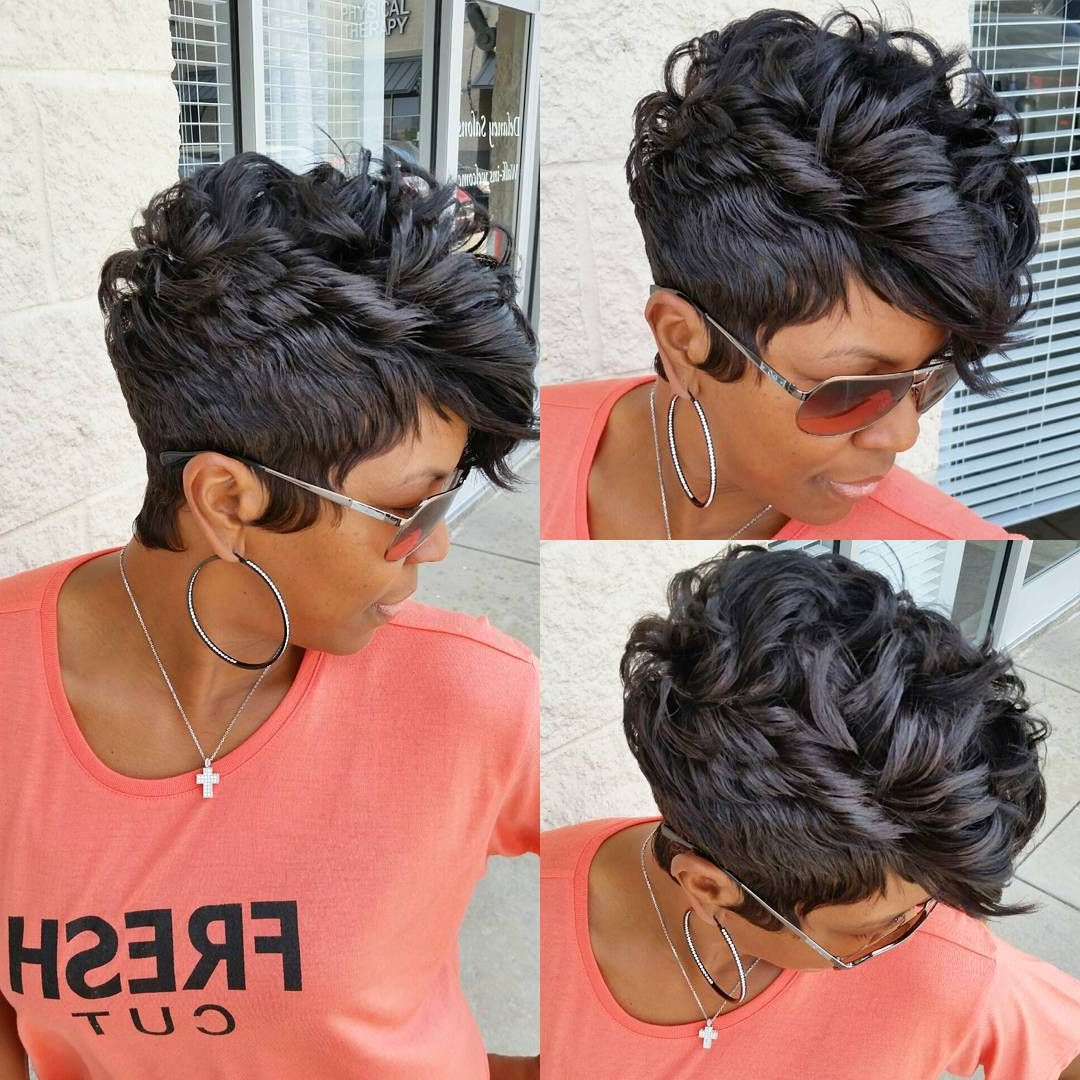 60 Great Short Hairstyles For Black Women In 2018 | Black Hair With Short Hairstyles For African American Hair (Gallery 15 of 25)