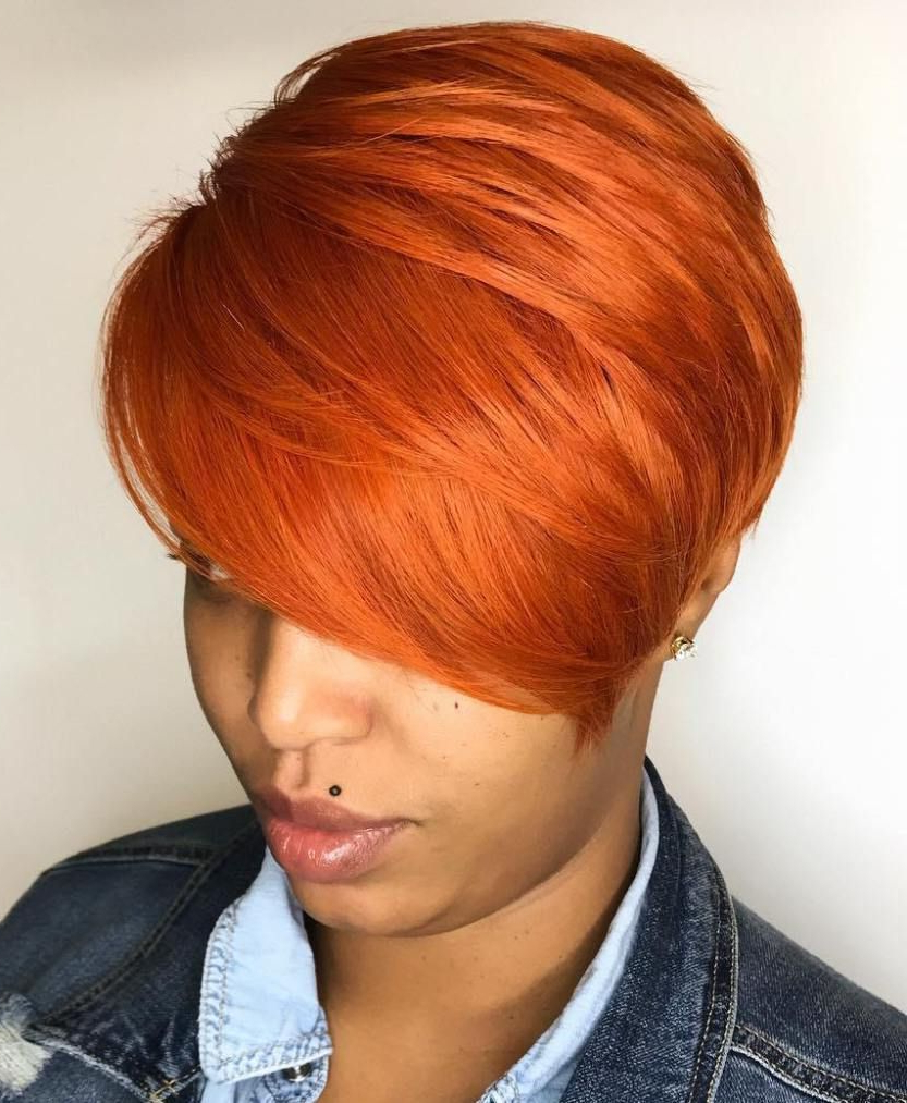 60 Great Short Hairstyles For Black Women | Red Pixie, Pixies And Regarding Red And Black Short Hairstyles (Gallery 2 of 25)