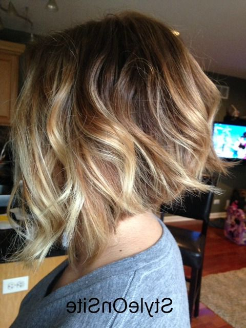 60 Hottest Balayage Hair Color Ideas 2018 – Balayage Hairstyles For In Straight Textured Angled Bronde Bob Hairstyles (Gallery 23 of 25)