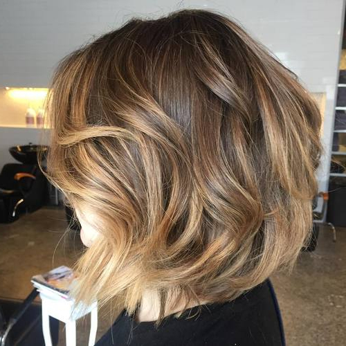 60 Hottest Balayage Hair Color Ideas 2018 – Balayage Hairstyles For Pertaining To Straight Textured Angled Bronde Bob Hairstyles (Gallery 8 of 25)