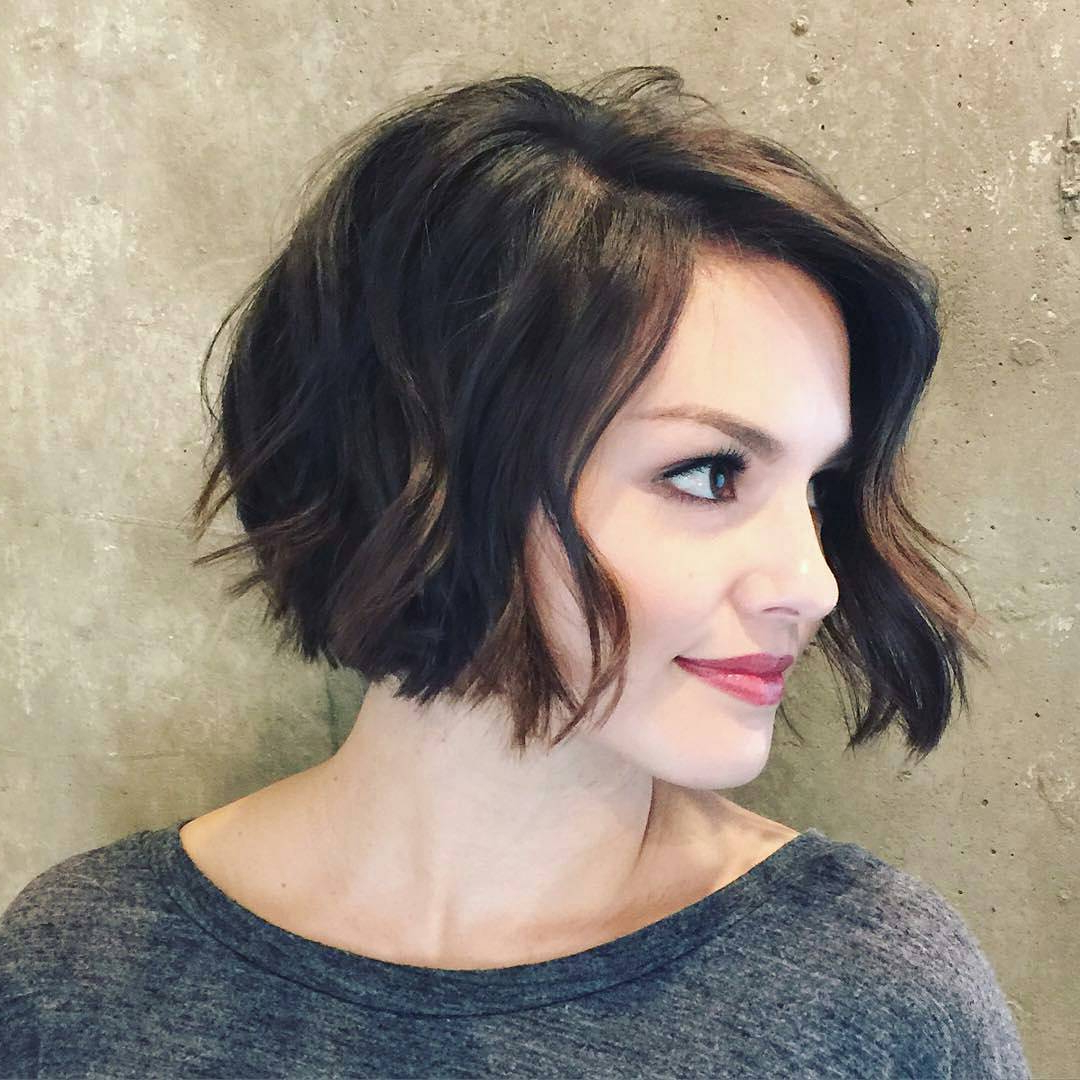 60 Hottest Bob Hairstyles For Everyone! (Short Bobs, Mobs, Lobs Intended For Loosely Waved Messy Brunette Bob Hairstyles (View 12 of 25)