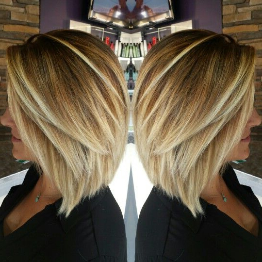 60 Hottest Bob Hairstyles For Everyone! (Short Bobs, Mobs, Lobs Pertaining To Caramel Blonde Rounded Layered Bob Hairstyles (View 13 of 25)