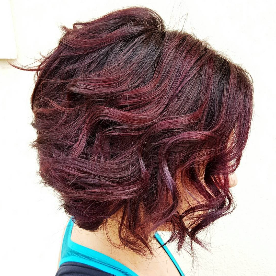 60 Hottest Bob Hairstyles For Everyone! (Short Bobs, Mobs, Lobs Throughout Angled Brunette Bob Hairstyles With Messy Curls (Gallery 15 of 25)