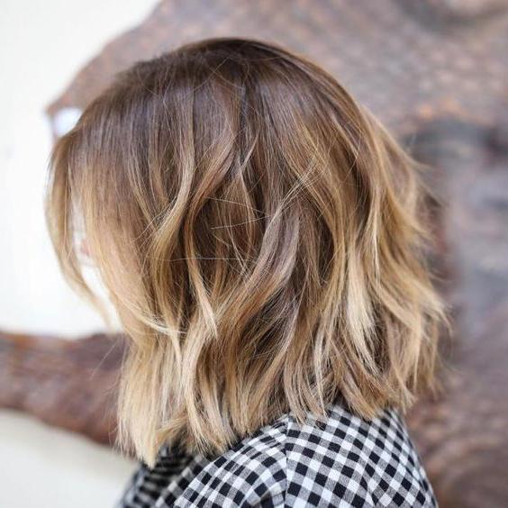 60 Inspiring Long Bob Hairstyles And Haircuts | Hair Colours Throughout Balayage Bob Haircuts With Layers (View 4 of 25)