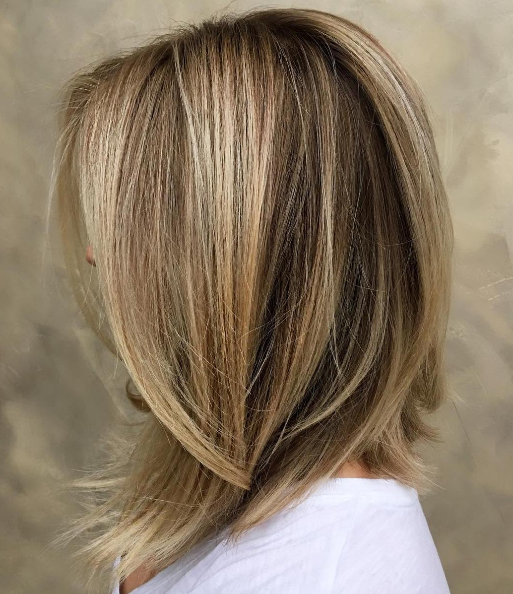 60 Inspiring Long Bob Hairstyles And Lob Haircuts 2018 In Choppy Golden Blonde Balayage Bob Hairstyles (Gallery 19 of 25)