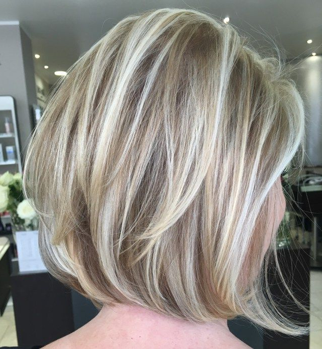 60 Layered Bob Styles: Modern Haircuts With Layers For Any Occasion Pertaining To Silver Balayage Bob Haircuts With Swoopy Layers (Gallery 14 of 25)