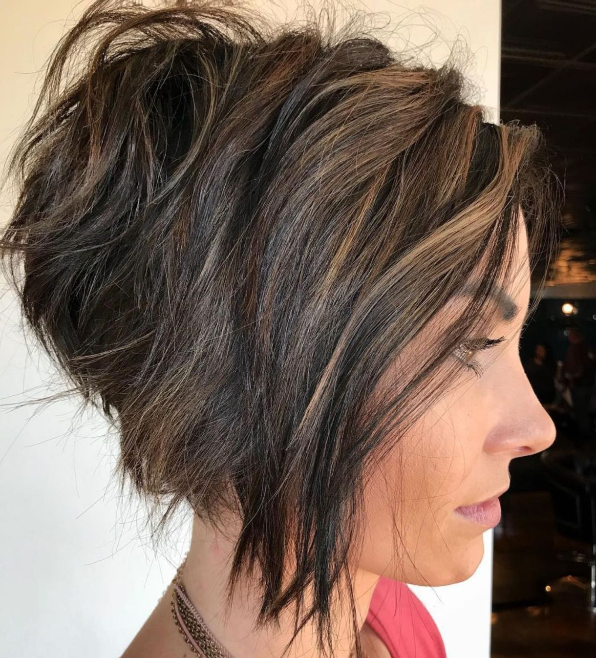 60 Layered Bob Styles: Modern Haircuts With Layers For Any Occasion With Disheveled Burgundy Brown Bob Hairstyles (Gallery 1 of 25)