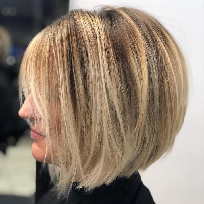 60 Layered Bob Styles: Modern Haircuts With Layers For Any Occasion Within Short Crisp Bronde Bob Haircuts (View 5 of 25)