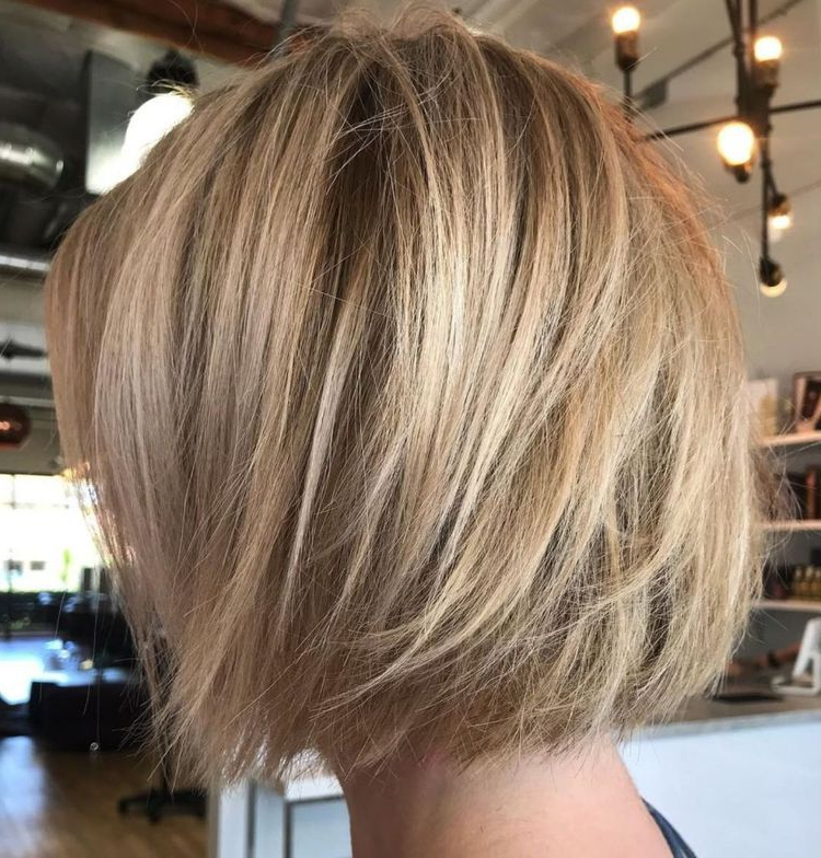 60 Layered Bob Styles: Modern Haircuts With Layers For Any Pertaining To Dynamic Tousled Blonde Bob Hairstyles With Dark Underlayer (View 18 of 25)