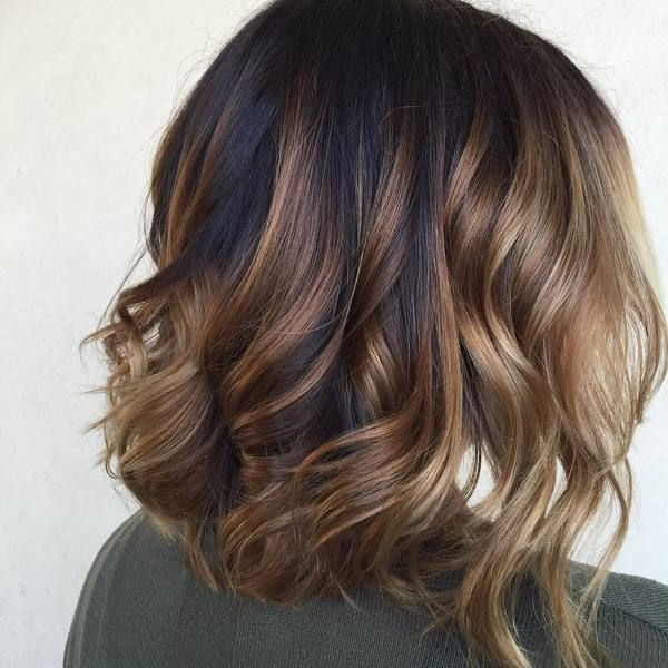 60 Looks With Caramel Highlights On Brown And Dark Brown Hair | Hair For Short Crop Hairstyles With Colorful Highlights (Gallery 3 of 25)