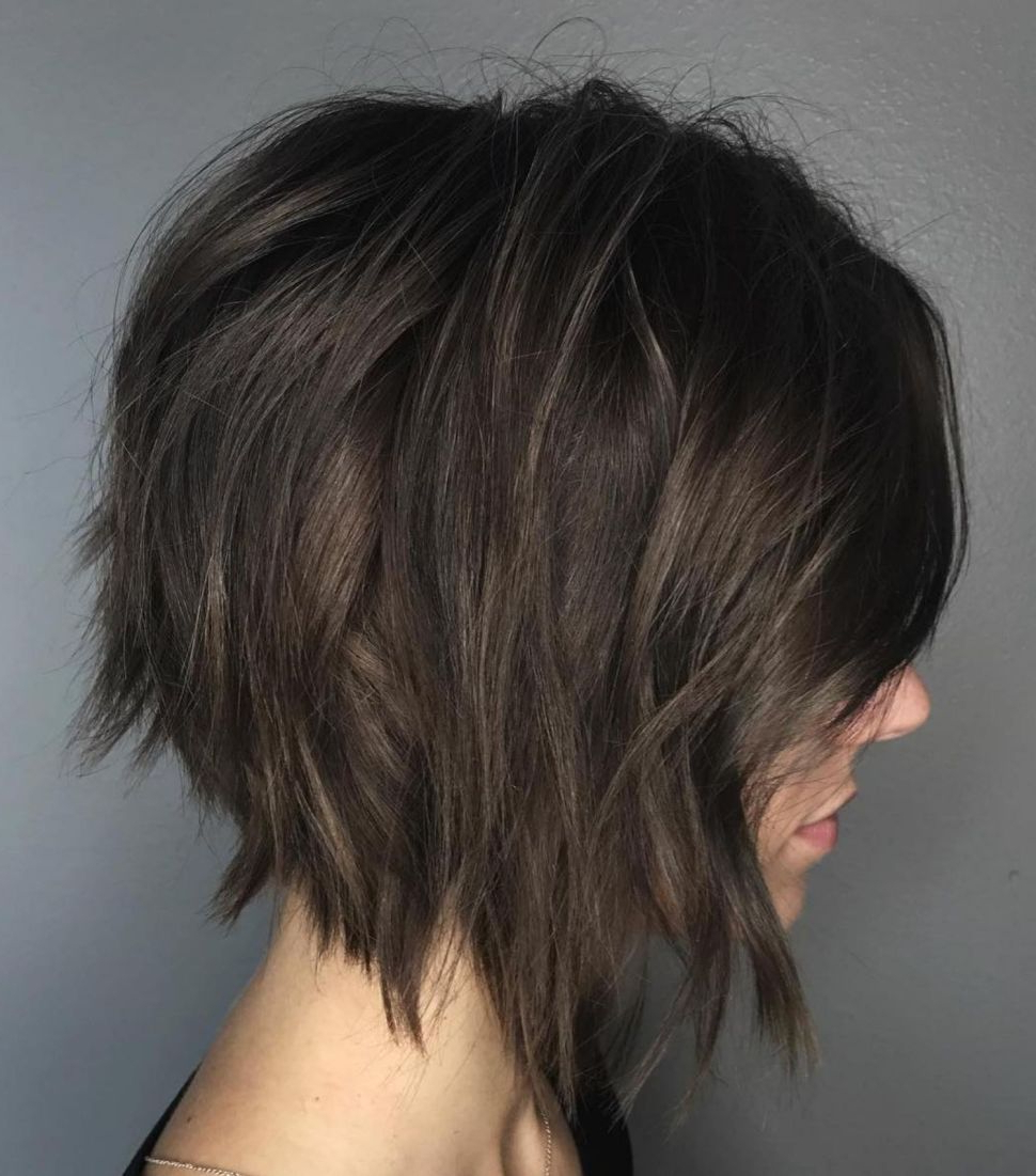 60 Messy Bob Hairstyles For Your Trendy Casual Looks | Hair Styles Regarding Edgy Brunette Bob Hairstyles With Glossy Waves (Gallery 2 of 25)