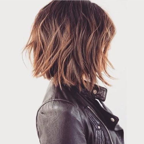 60 Messy Bob Hairstyles For Your Trendy Casual Looks In 2018 | Hair Regarding Choppy Tousled Bob Haircuts For Fine Hair (Gallery 8 of 25)
