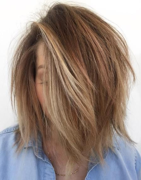 60 Messy Bob Hairstyles For Your Trendy Casual Looks In 2018   Hair Throughout Disheveled Brunette Choppy Bob Hairstyles (View 2 of 25)