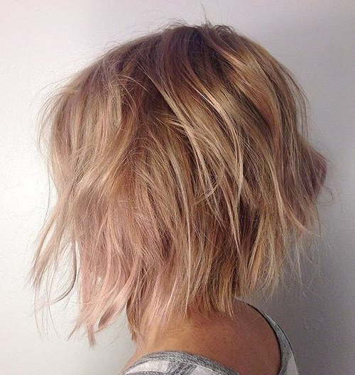 60 Messy Bob Hairstyles For Your Trendy Casual Looks In 2018 | Hair With Regard To Messy Jaw Length Blonde Balayage Bob Haircuts (Gallery 4 of 25)