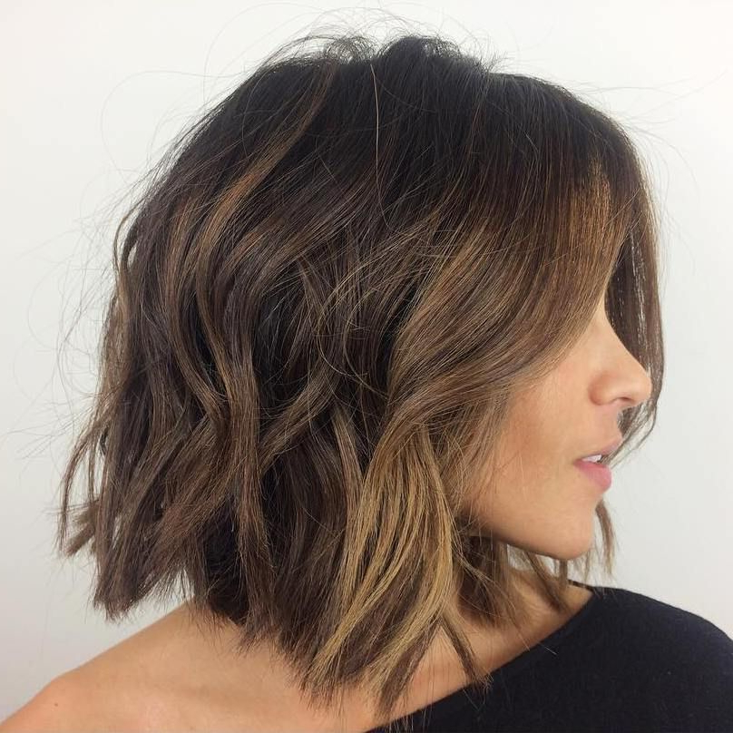 60 Messy Bob Hairstyles For Your Trendy Casual Looks In 2018 | Long Within Disheveled Brunette Choppy Bob Hairstyles (Gallery 1 of 25)