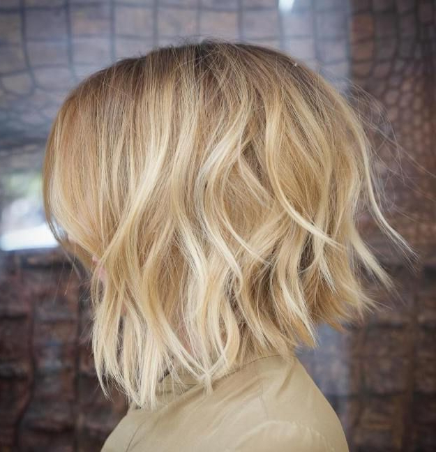 60 Messy Bob Hairstyles For Your Trendy Casual Looks In 2018 | Style In Messy Honey Blonde Bob Haircuts (Gallery 1 of 25)