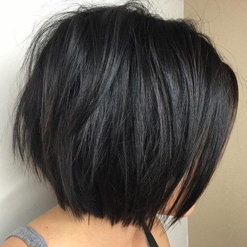 60 Most Beneficial Haircuts For Thick Hair Of Any Length In 2018 Inside Disheveled Brunette Choppy Bob Hairstyles (Gallery 7 of 25)