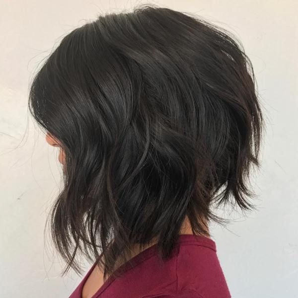 60 Most Beneficial Haircuts For Thick Hair Of Any Length | Lob Pertaining To Angled Bob Hairstyles For Thick Tresses (View 5 of 25)