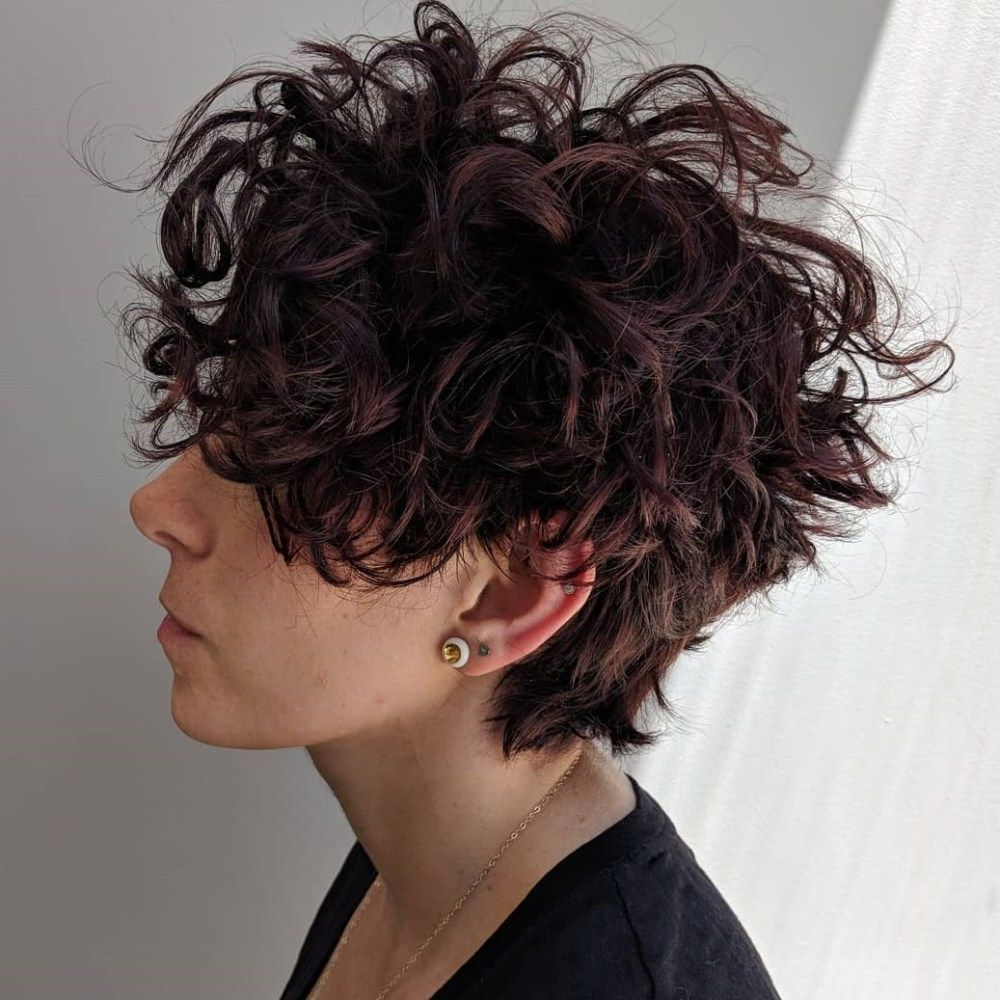 60 Most Delightful Short Wavy Hairstyles | Curly Stuff! | Pinterest With Regard To Long Messy Curly Pixie Haircuts (Gallery 11 of 25)