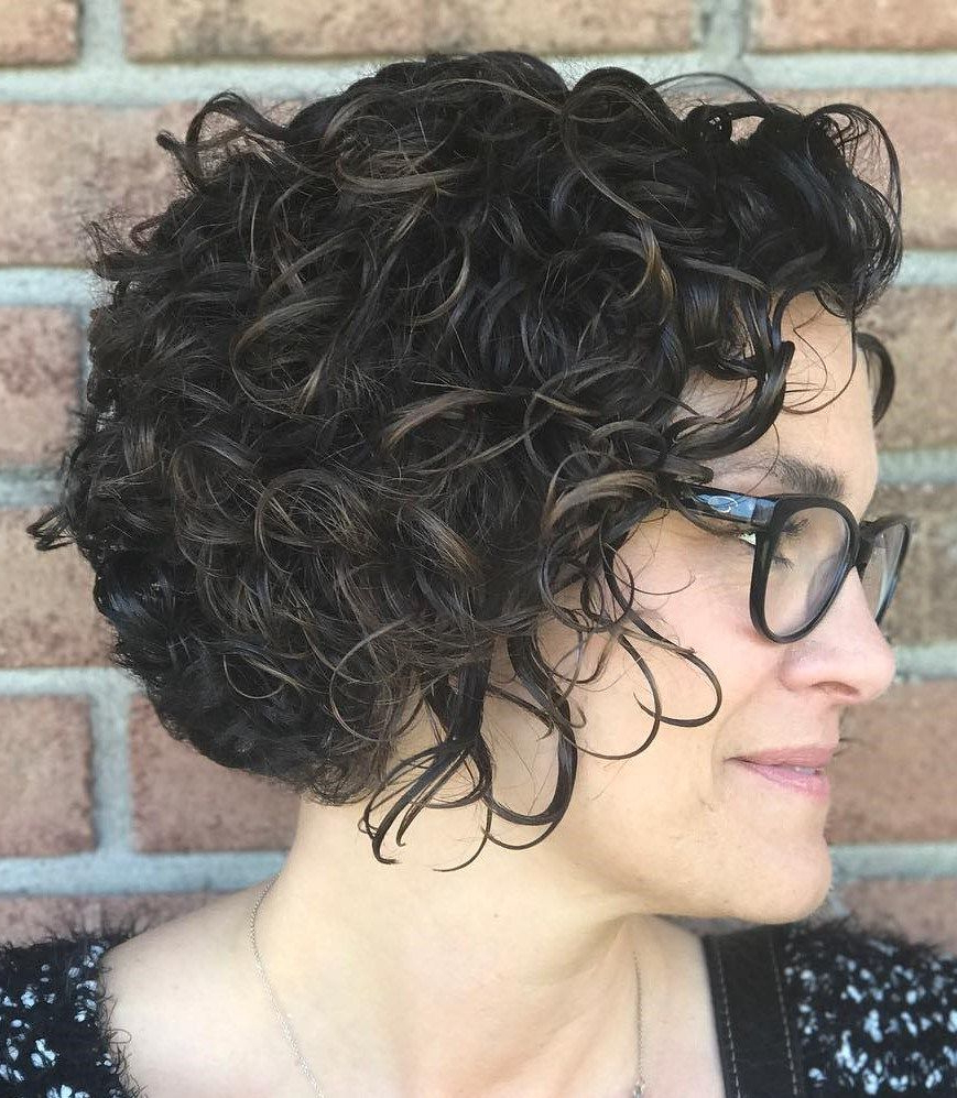 60 Most Delightful Short Wavy Hairstyles | Hair Cut | Pinterest Inside Black Wet Curly Bob Hairstyles With Subtle Highlights (Gallery 1 of 25)