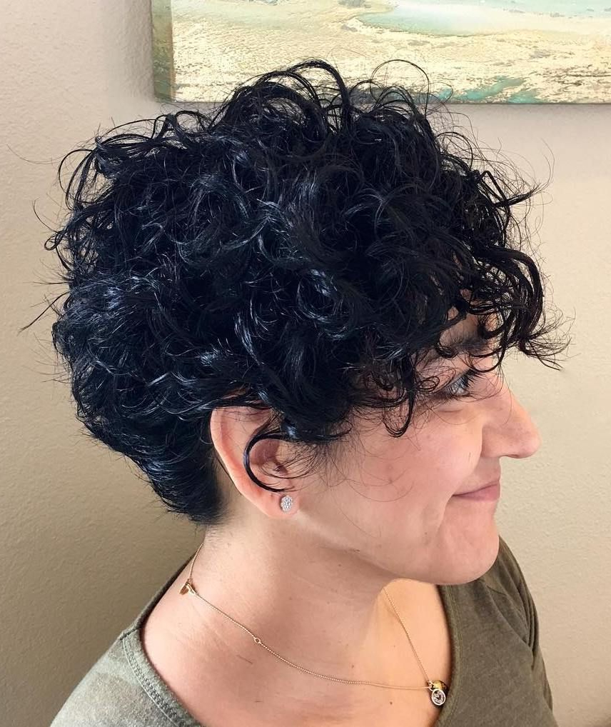 60 Most Delightful Short Wavy Hairstyles   Hair Did   Pinterest In Short Black Hairstyles With Tousled Curls (Gallery 1 of 25)