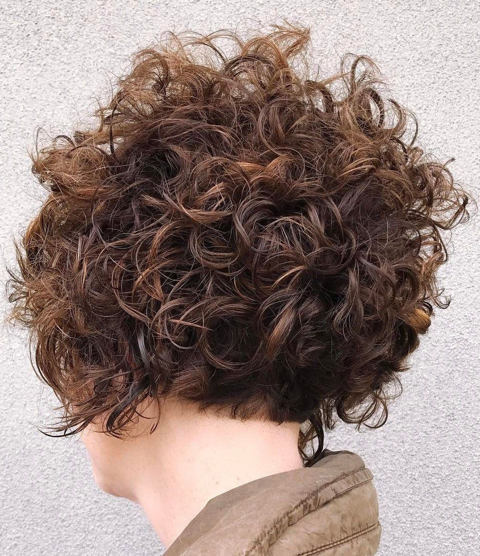 60 Most Delightful Short Wavy Hairstyles | Hair I Might Need In Nape Length Brown Bob Hairstyles With Messy Curls (Gallery 3 of 25)