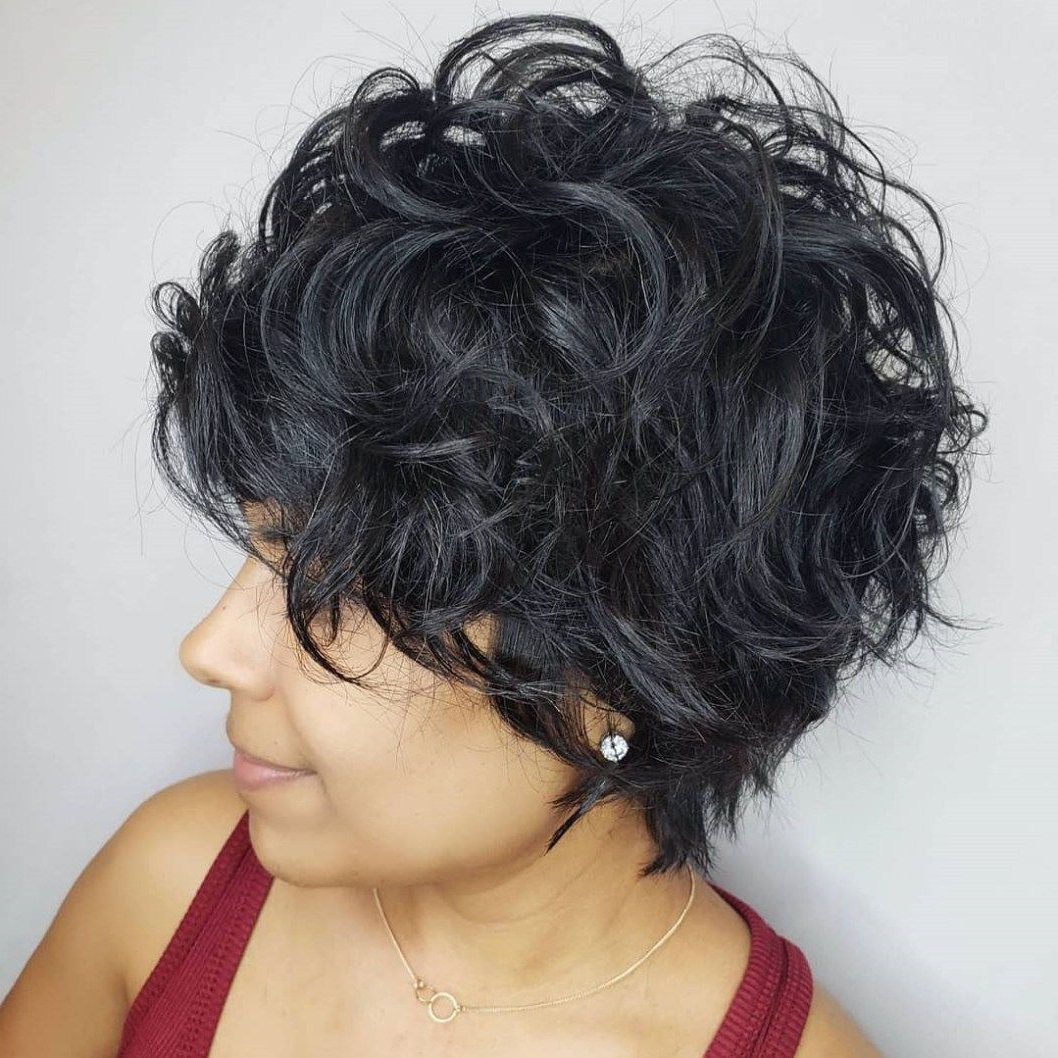 60 Most Delightful Short Wavy Hairstyles   Hair   Pinterest   Curly Pertaining To Short Black Hairstyles With Tousled Curls (Gallery 4 of 25)