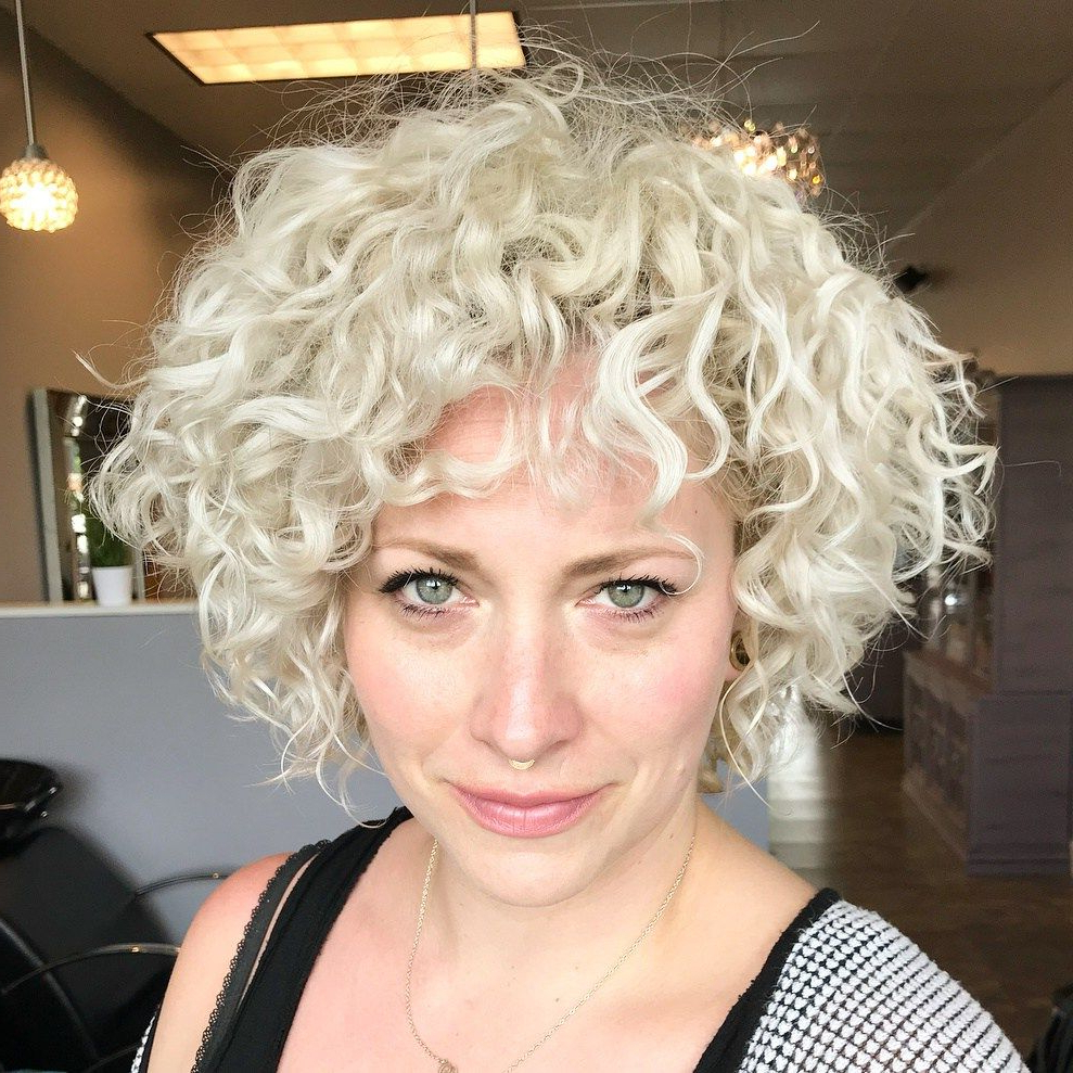 60 Most Delightful Short Wavy Hairstyles | Hair Styling | Pinterest With White Blonde Curly Layered Bob Hairstyles (Gallery 14 of 25)